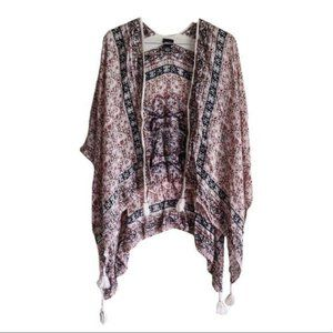 Rue21 Boho Wrap Cover-Up with Tassels XS